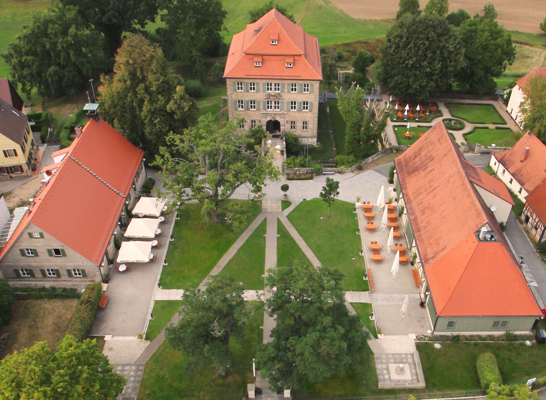 Schloss Atzelsberg Luftaufnahme